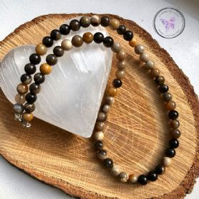 Petrified Wood Beaded Necklace